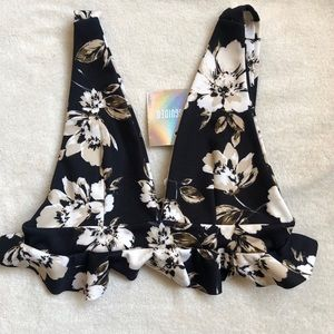 NWT Missguided floral bralette/ crop top
